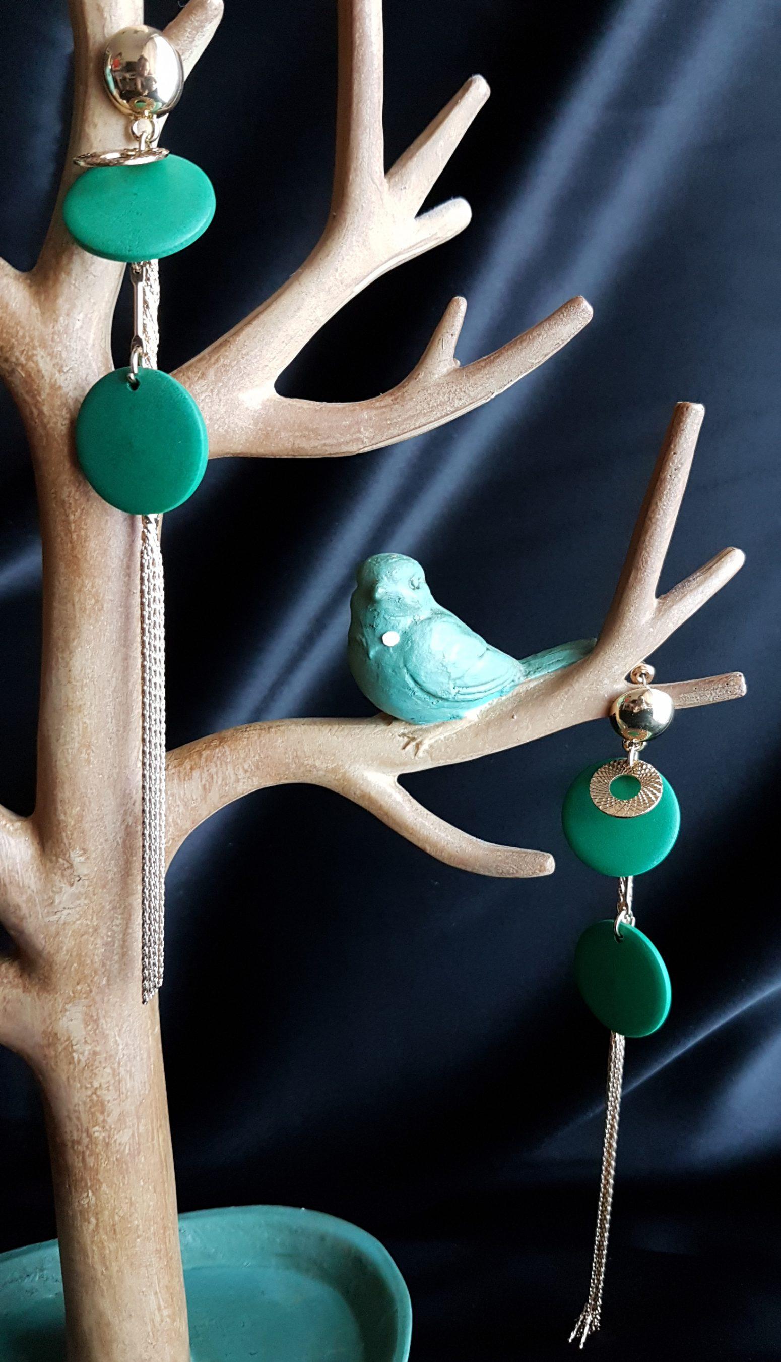 Circular and long tasseled earing_green_24 copy