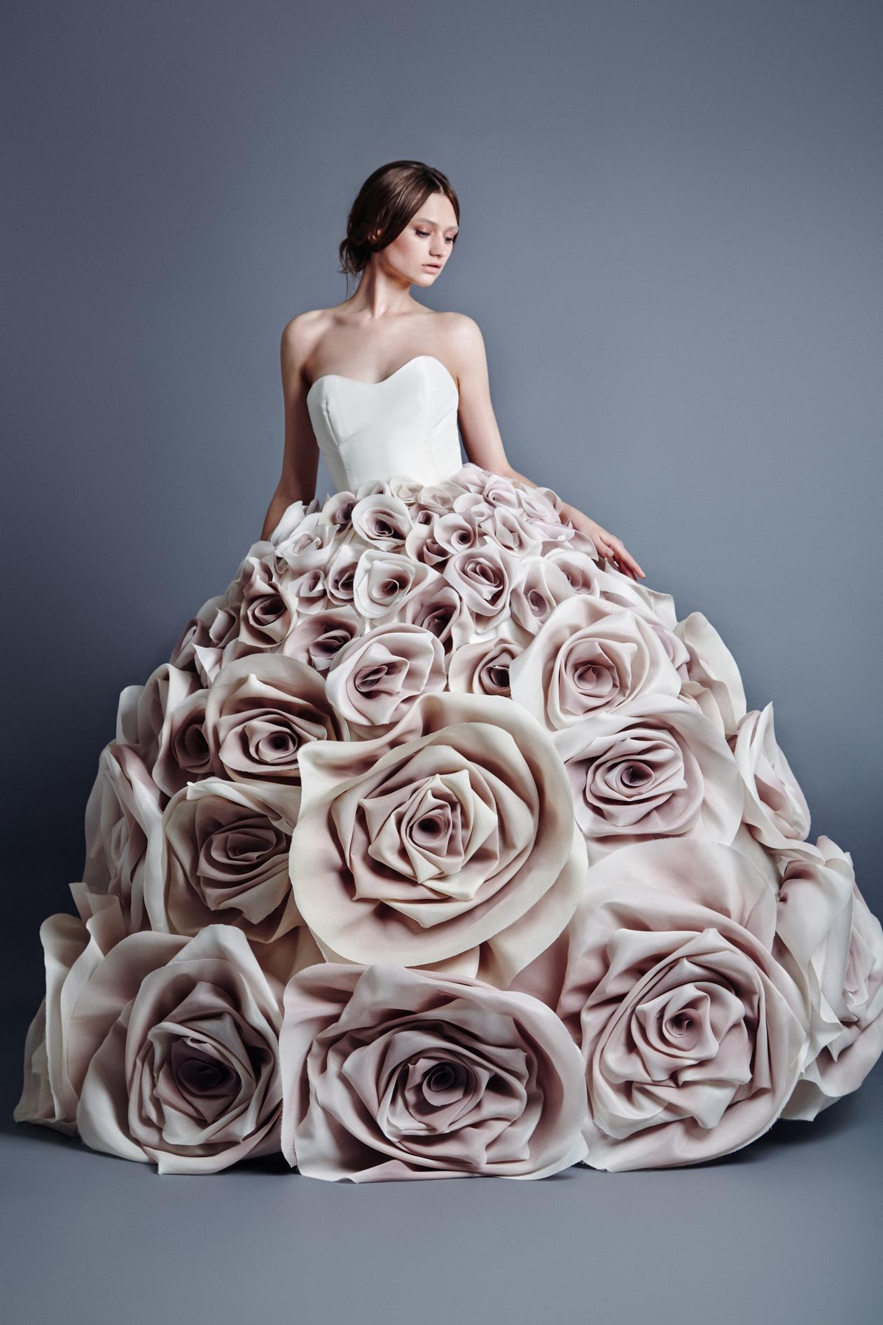 Flower inspired dress